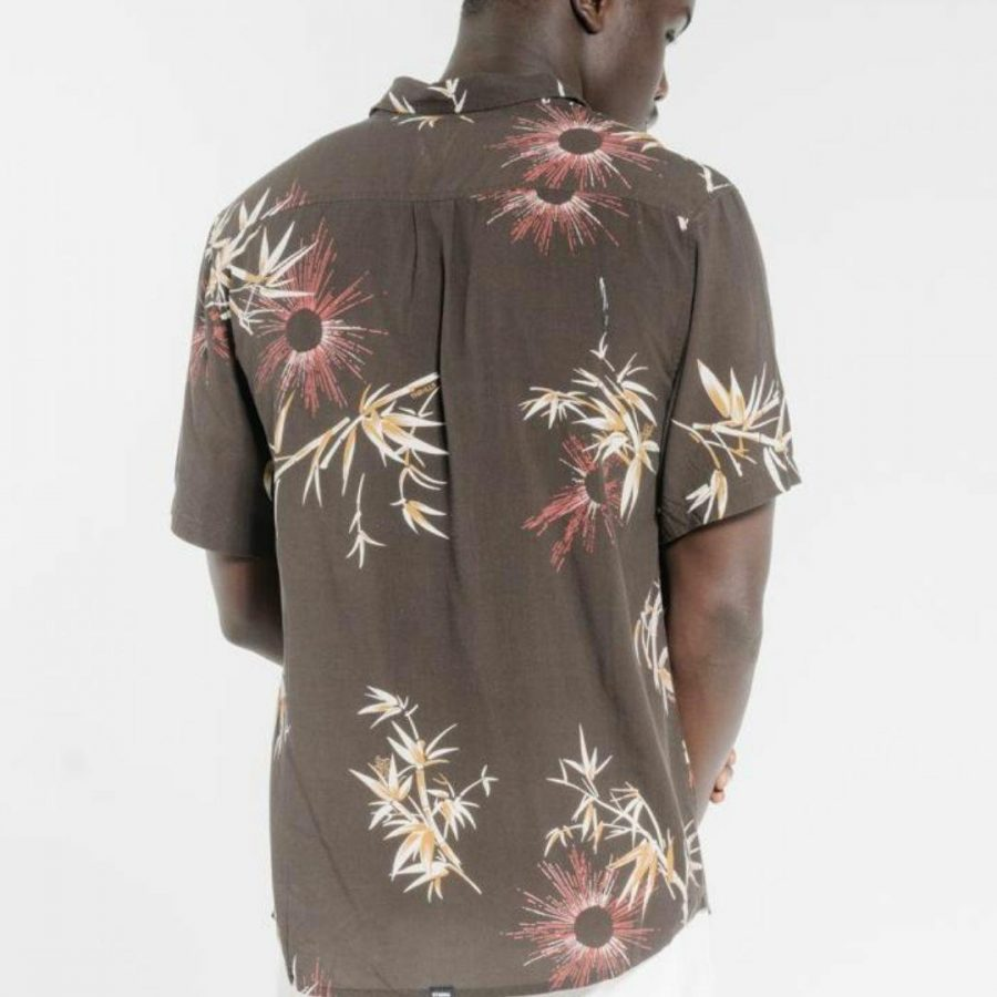 Bamboo Rat Ss Mens Tops Colour is Postal Brown