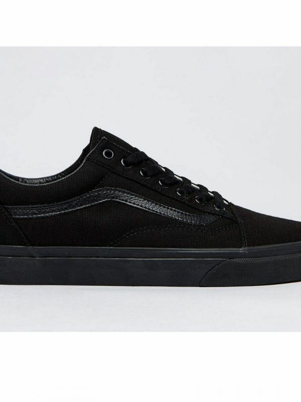 Old Skool Black Black Mens Shoes And Boots Colour is Blk Blk