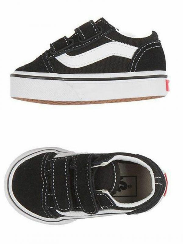 Old Skool V Black Kids Toddlers And Groms Shoes And Boots Colour is Black Black