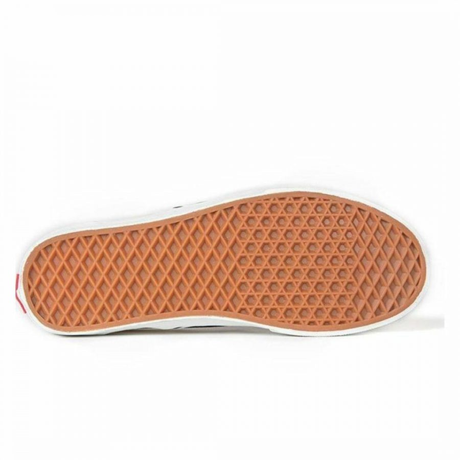 Classic Slip On Checkers Unisex Shoes And Boots Colour is White Checker