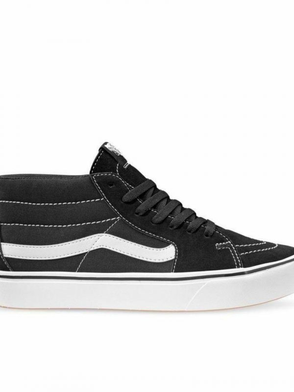 Comfuycush Sk8-mid Unisex Shoes And Boots Colour is Black White