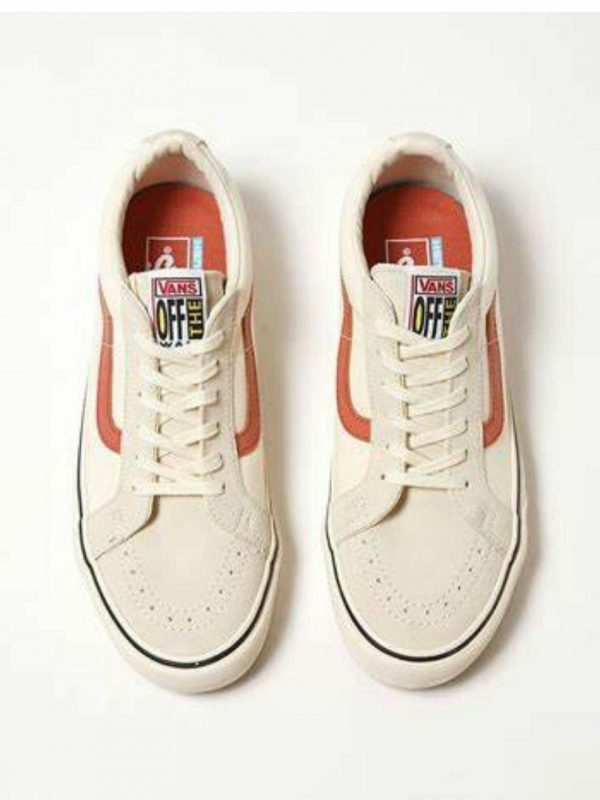 Old Skool Comfy Cush Unisex Shoes And Boots Colour is Antique White