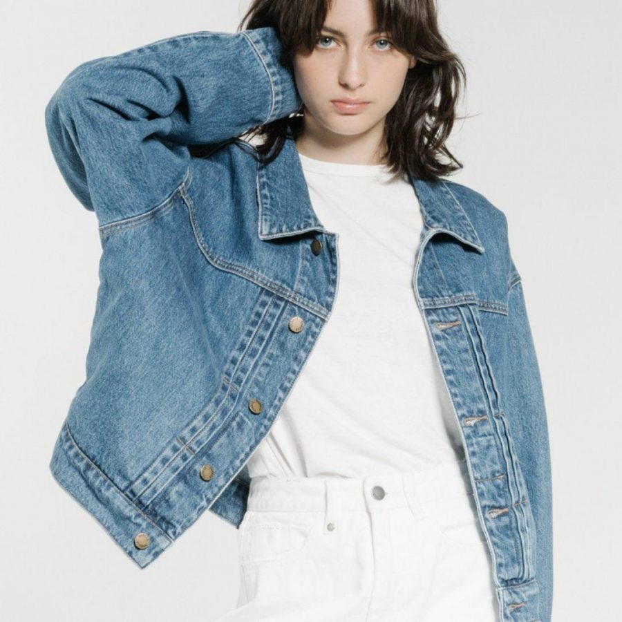 Mercy Jacket Womens Jackets Colour is Rinsed Blue