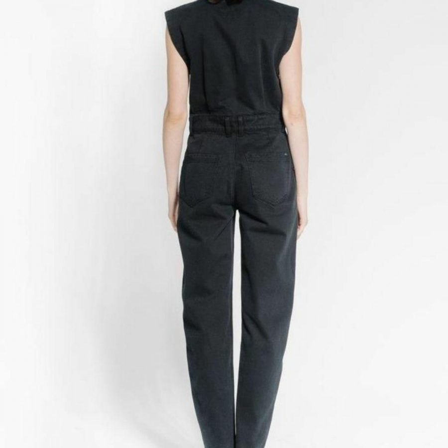 Cresecent Coverall Womens Skirts And Dresses Colour is Black Rinse