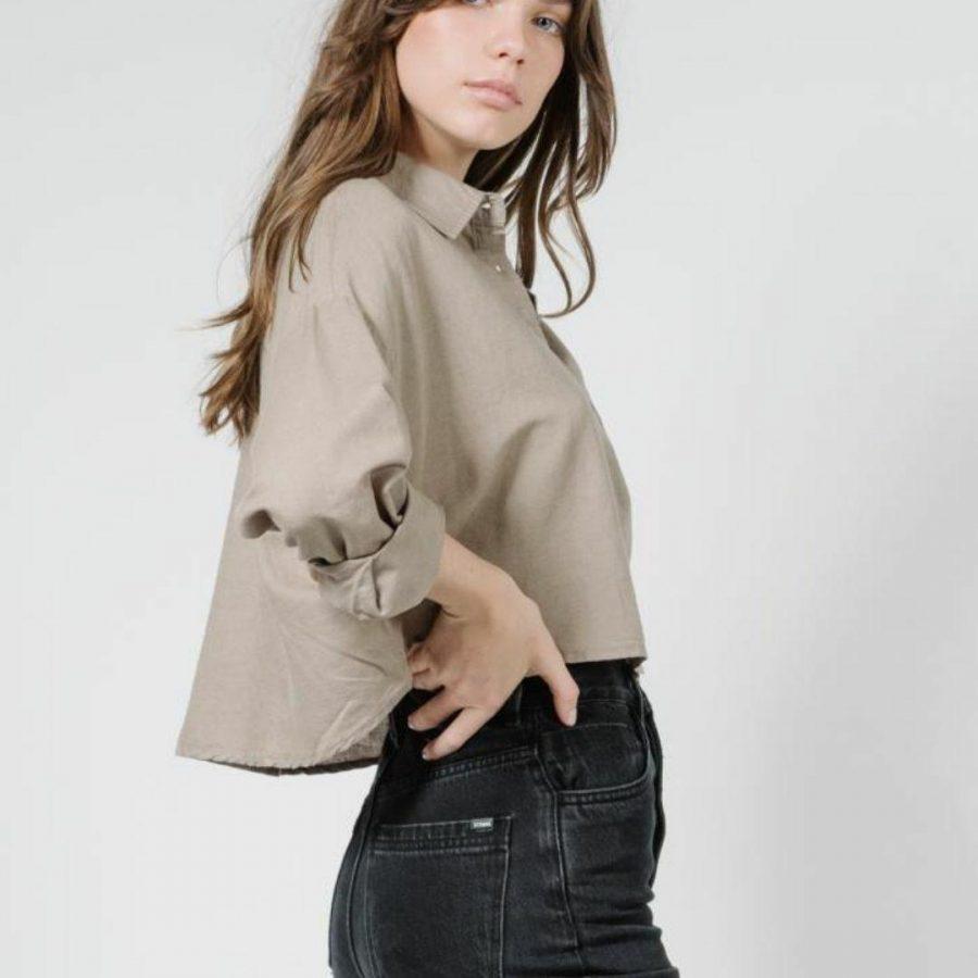 Liv Shirt Mens Tops Colour is Army Fade