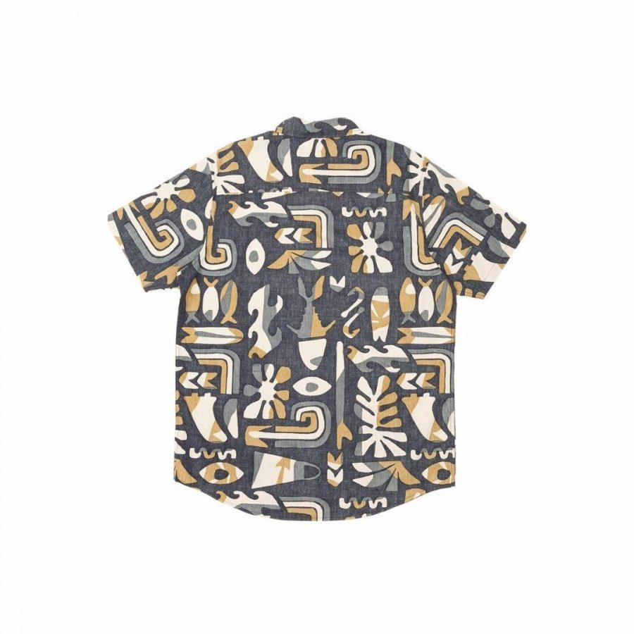 Hodad Ss Woven Mens Tops Colour is Navy