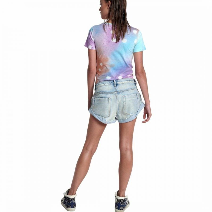 Graffiti Td Tee Womens Tops Colour is Tie Dye Spot