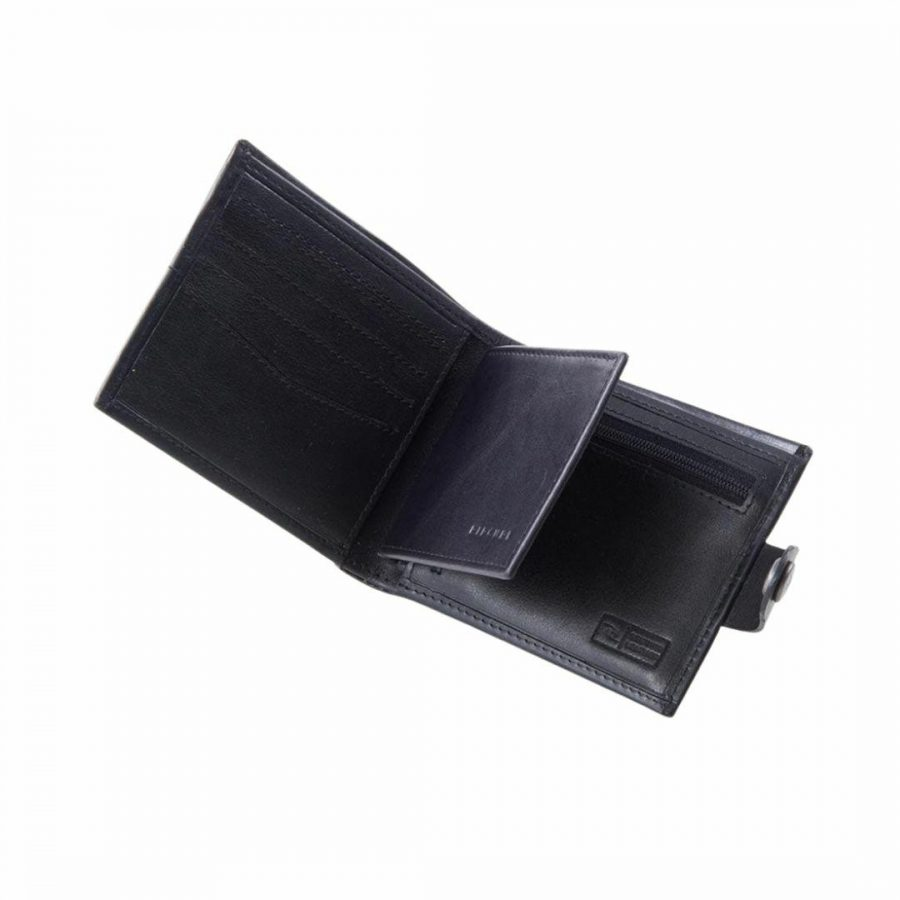 Snap Clip Rfid 2 In 1 Mens Wallets Colour is Black