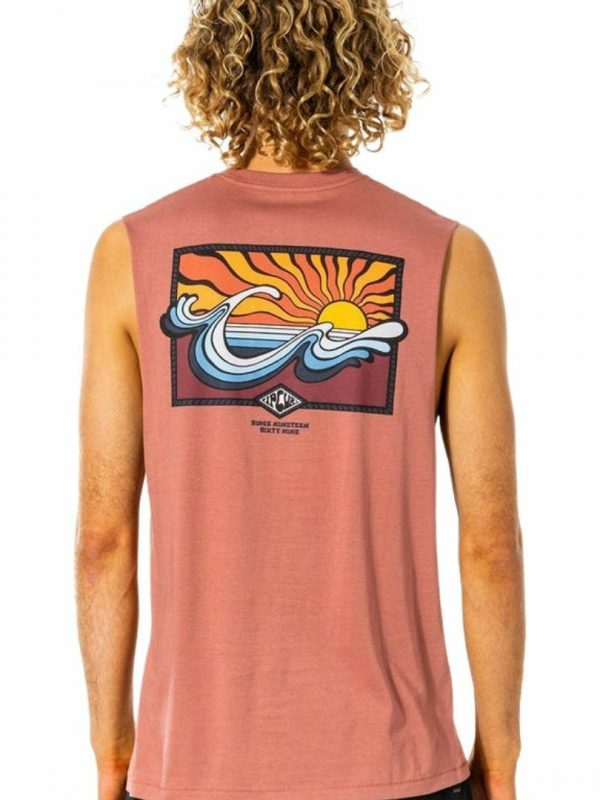 Swc Hazed Muscle Mens Tee Shirts Colour is Washed Wine
