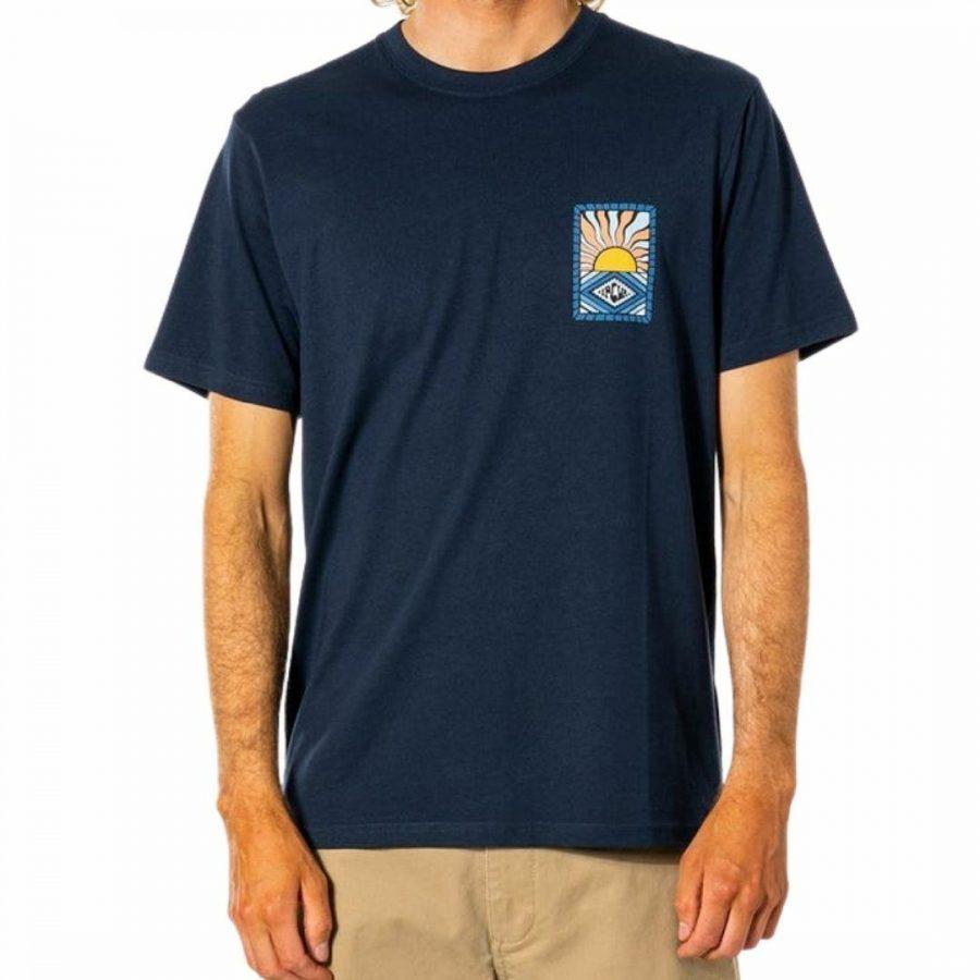 Swc Hazed Tee Mens Tee Shirts Colour is Navy