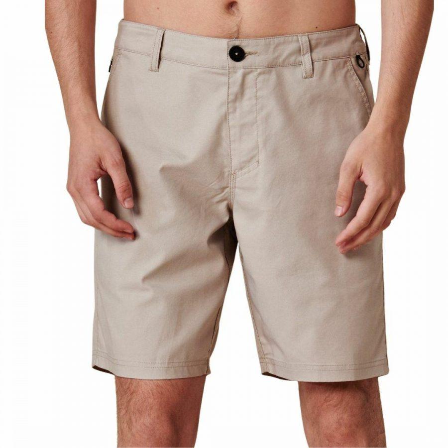 Any Wear Short Mens Walkshorts Colour is Stone