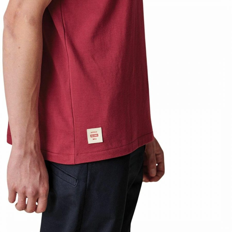 Infinity Stack Tee Mens Tops Colour is Rhubarb