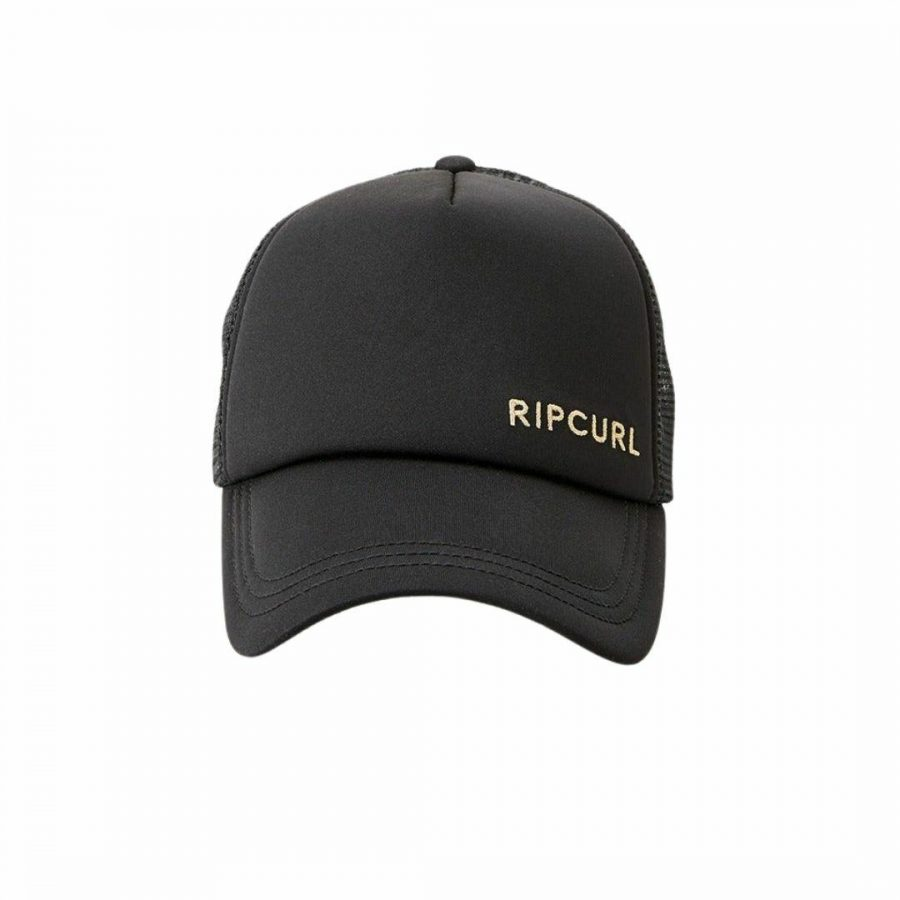 Classic Surf Trucker Womens Hats Caps And Beanies Colour is Black/gold