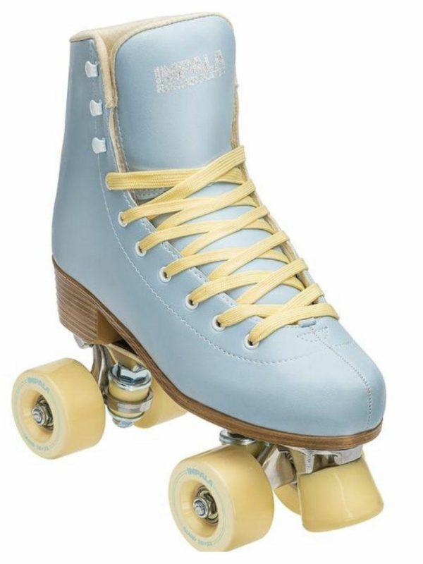 Skyblue/yellow Quad Skate Womens Roller Skates Colour is Sky Blue Yellow