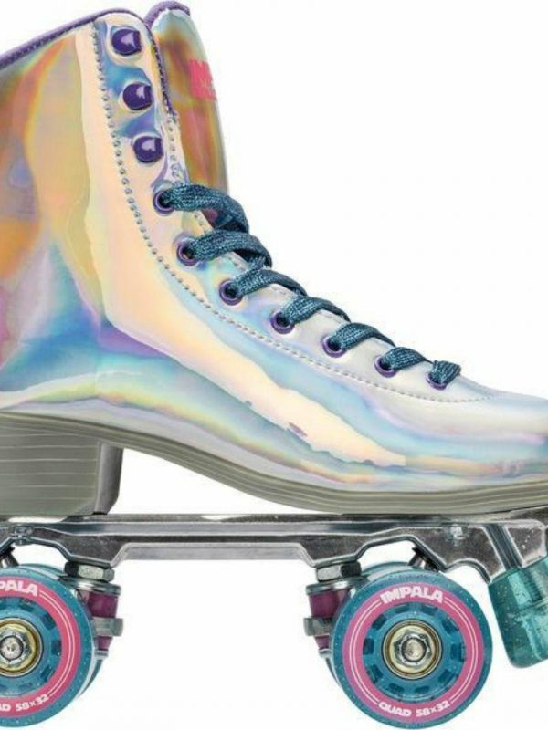 Holographic Quad Skate Womens Roller Skates Colour is Holographic
