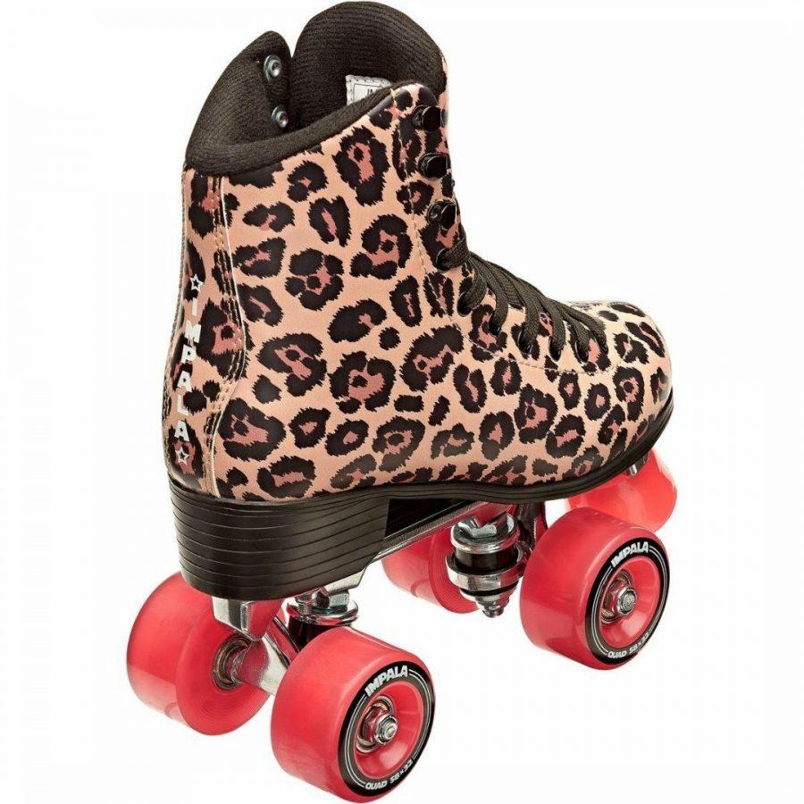 Leopard Quad Skate Womens Roller Skates Colour is Leopard