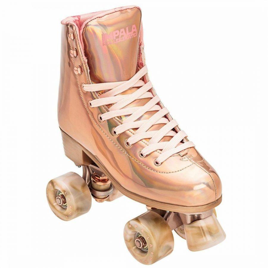 Marawa Rose Gold Womens Roller Skates Colour is Roseg