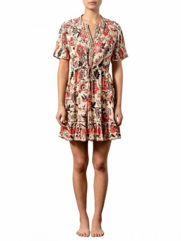 Lunara Althea Mini Dress Womens Skirts And Dresses Colour is Lunara Floral