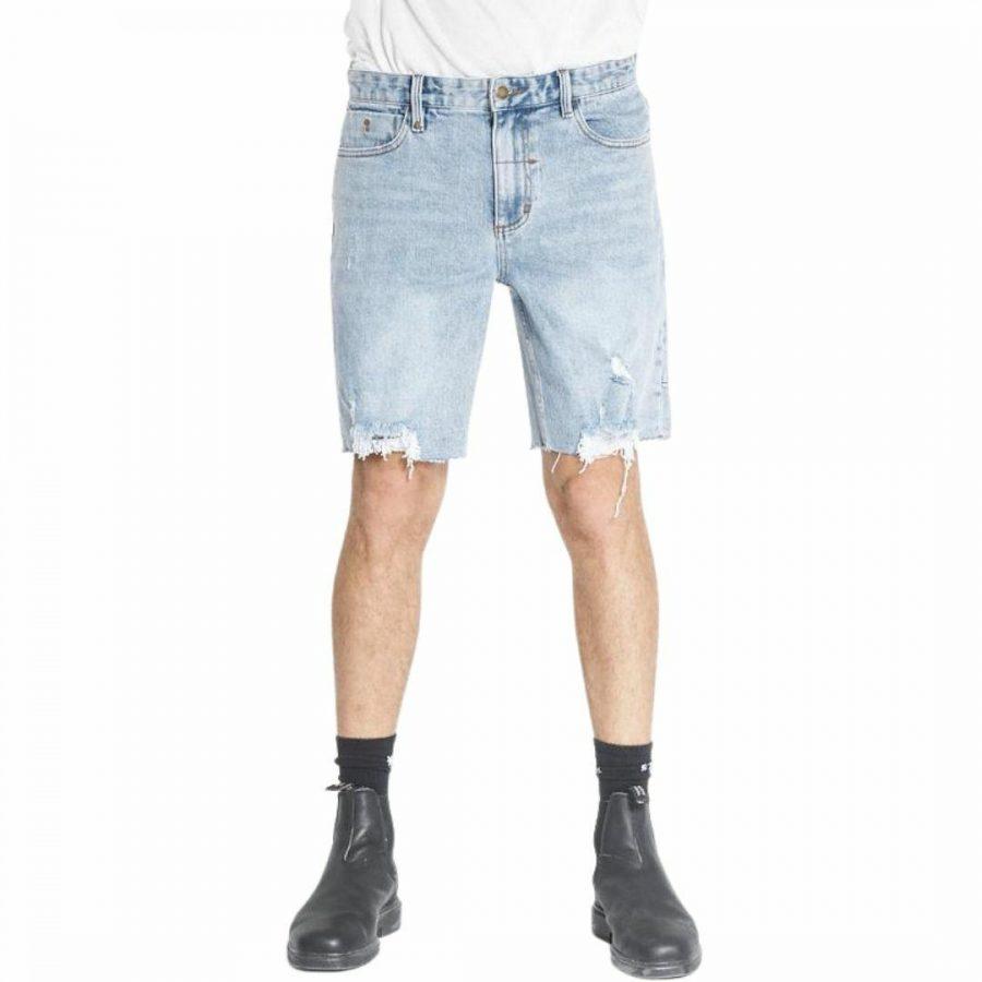 Destroyed Denim Shorts Mens Walkshorts Colour is Ageblu