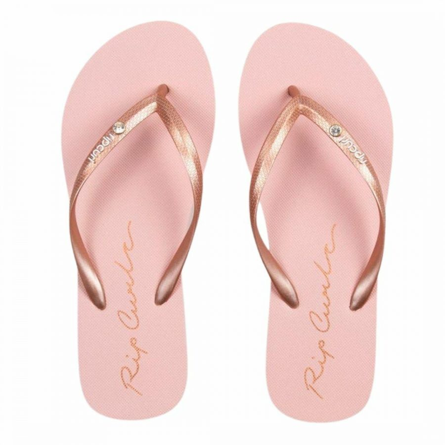 Script Wave Womens Thongs And Sandals Colour is Rose Gold