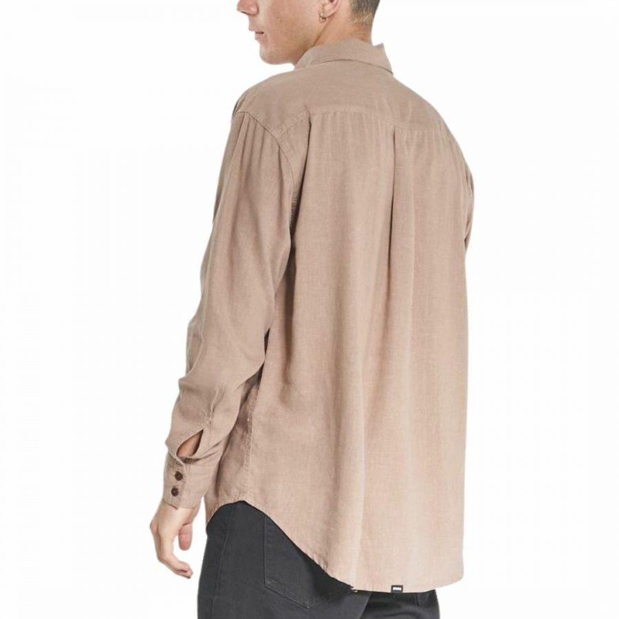 Minimal Os Ls Shirt Mens Tops Colour is Yak