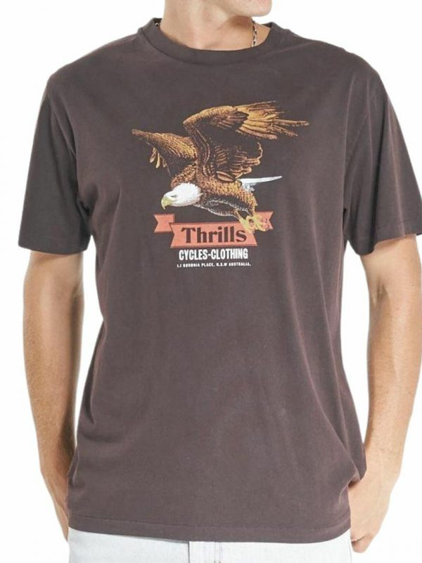 Eighty Three Merch Fit Te Mens Tops Colour is Postal Brown