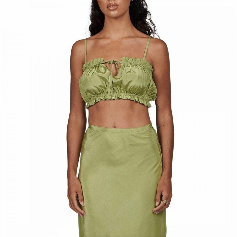 Margot Top Womens Tops Colour is Sage