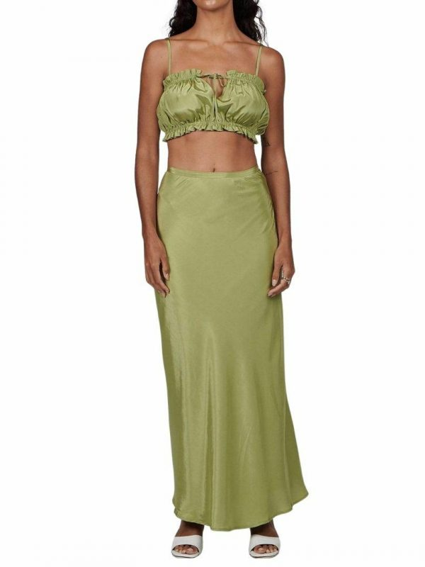 Margot Skirt Womens Skirts And Dresses Colour is Sage