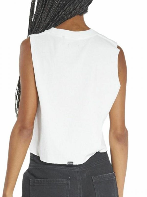 Speed Wreath Crop Womens Tops Colour is Dirty White