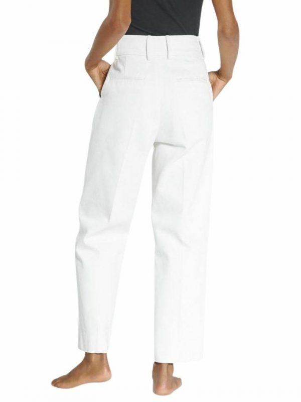 Raise Pant Womens Pants And Jeans Colour is Milk