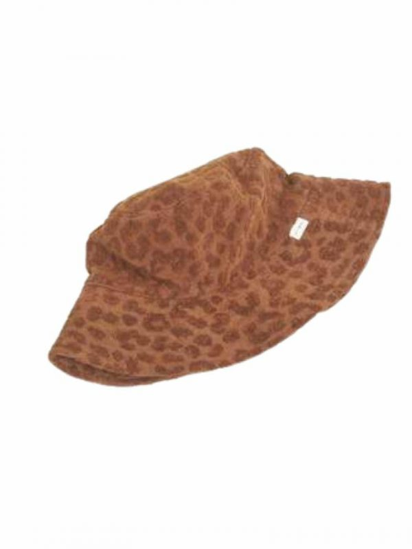 Towelling Bucket Hat Womens Hats Caps And Beanies Colour is Tobacco