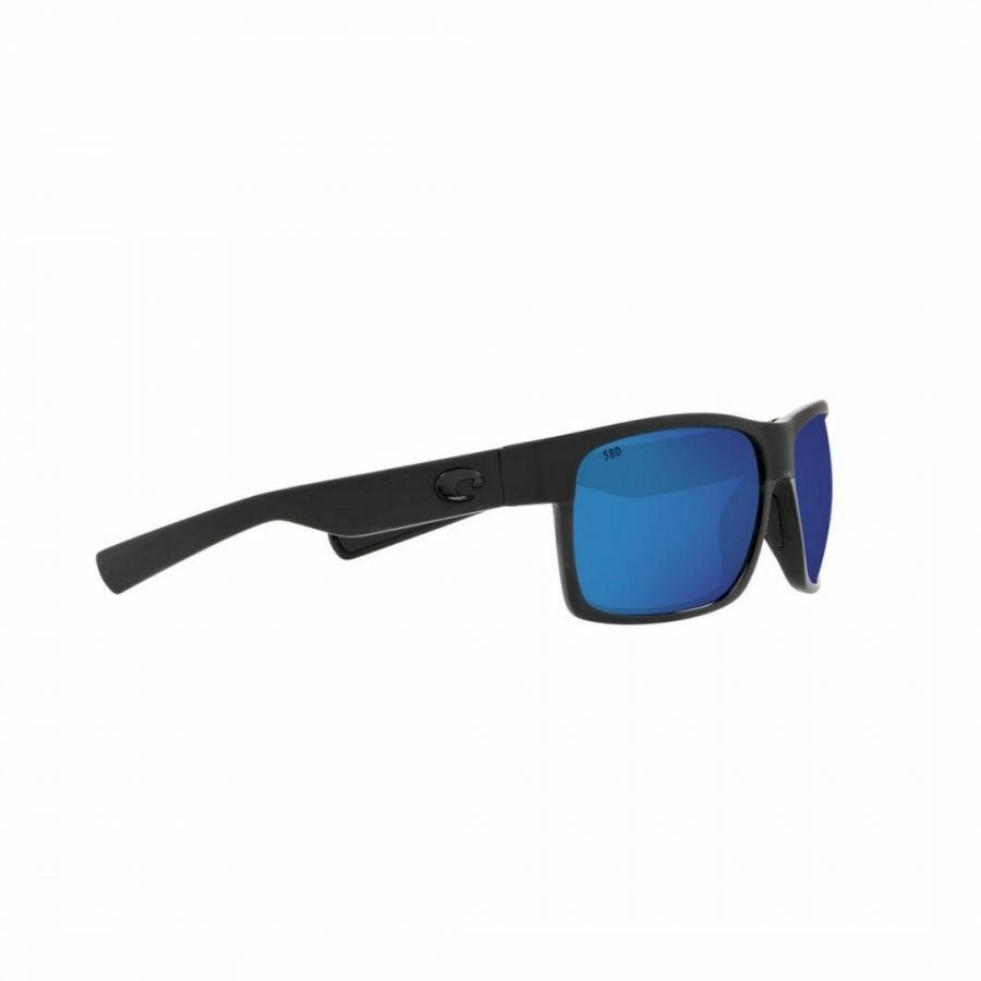Halfmoon 155 Blue Mirror Mens Sunglasses Colour is Blk/mtlk Bluemirror