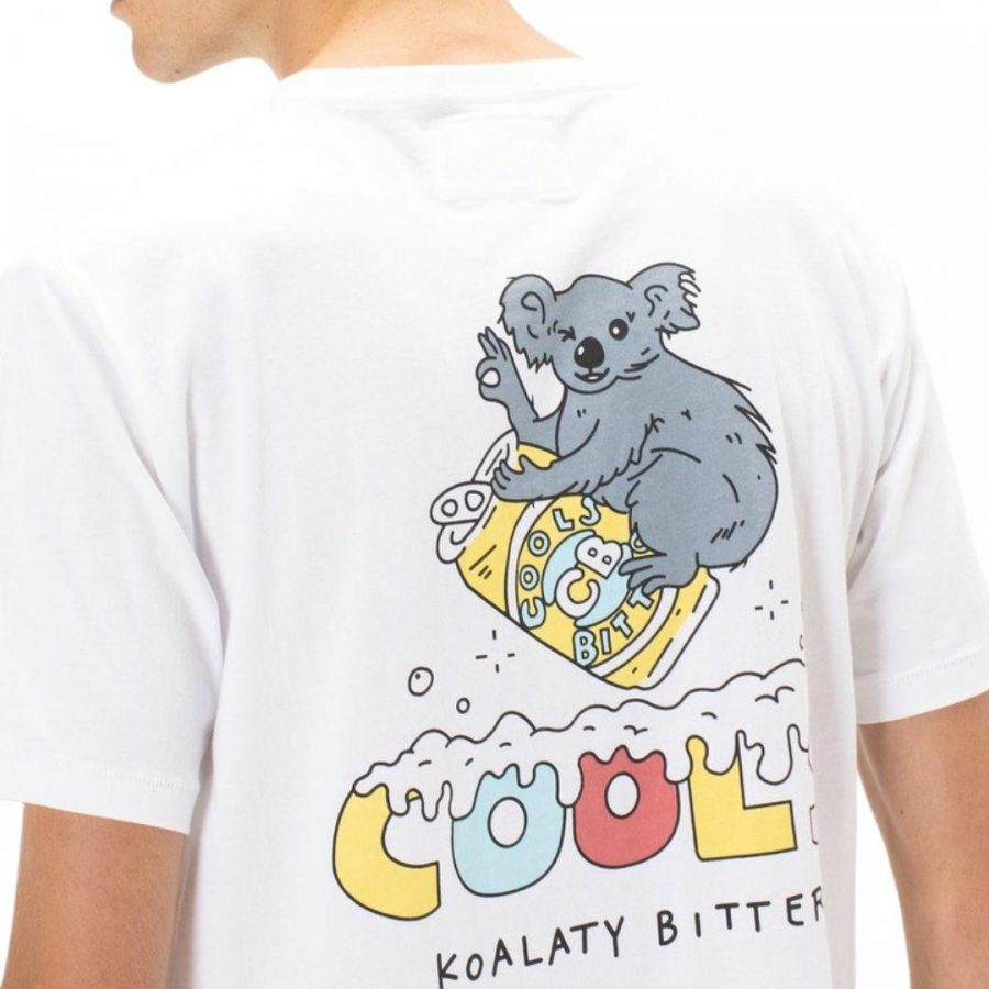 Koalaty Bitter Tee Mens Tops Colour is White