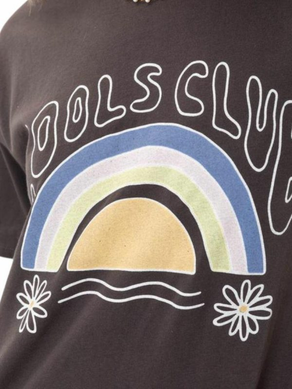 70s Club Tee Womens Tops Colour is Pigment Black