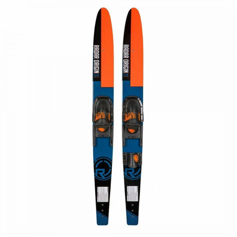Origin Combo W/horseshoe Unisex Water Skis Colour is Black Blue Orange