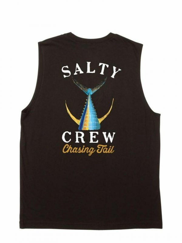 Tailed Sleeveless Mens Tops Colour is Black