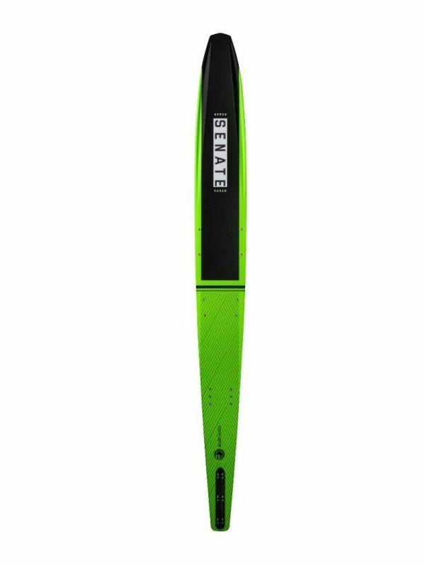 Senate Alloy Mens Water Skis Colour is Volt Green Black