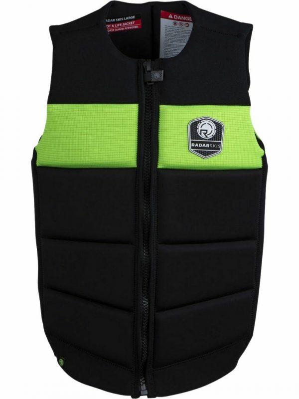 Tidal Impact Jacket Mens Bouyancy Vests Colour is Volt Green Black