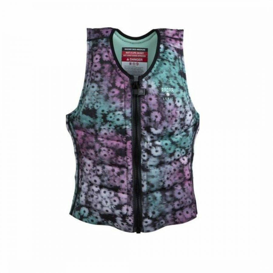 Lyric Impact Jacket Womens Bouyancy Vests Colour is Black Floral Fade