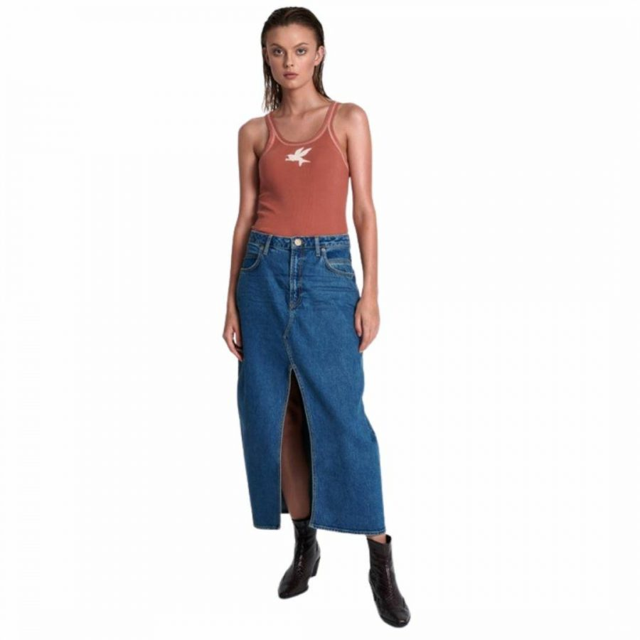 Rosewood Rocko Long Skirt Womens Skirts And Dresses Colour is Rosewood