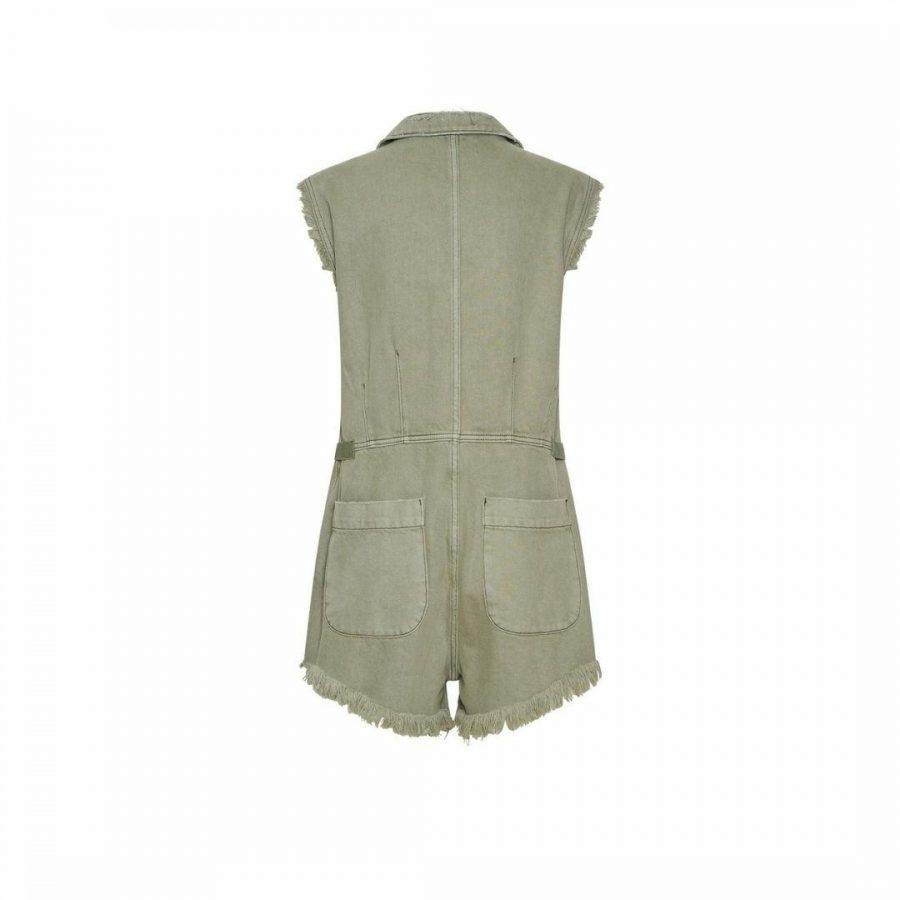 Pallisades Denim Overall Womens Skirts And Dresses Colour is Super Khaki
