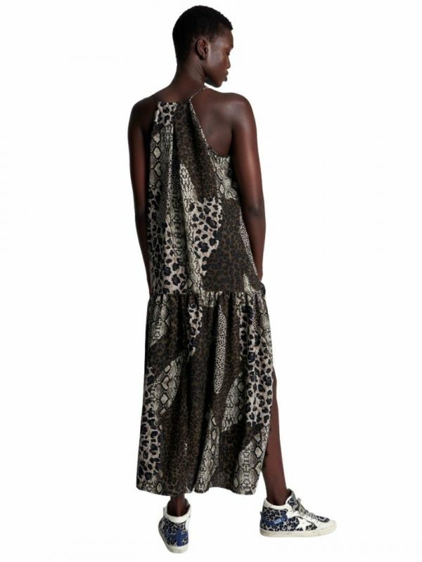 Night Animals Split Dress Womens Skirts And Dresses Colour is Night Animal