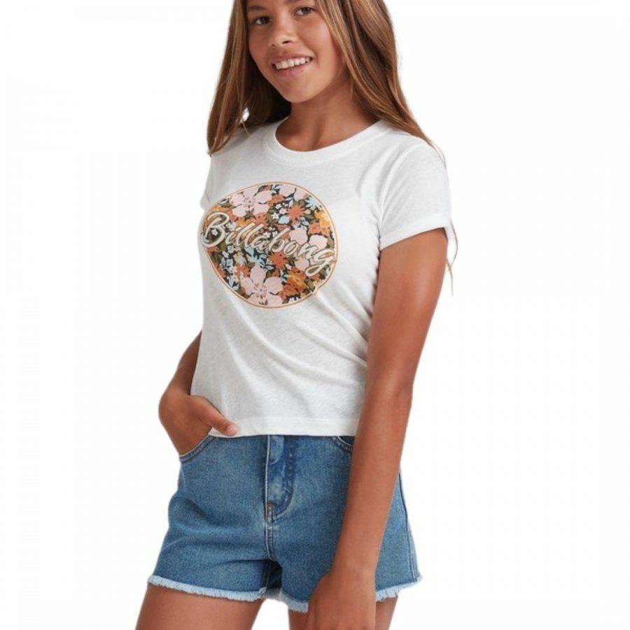 Heart Eyes Formul Girls Tee Shirts Colour is Salt Crystal