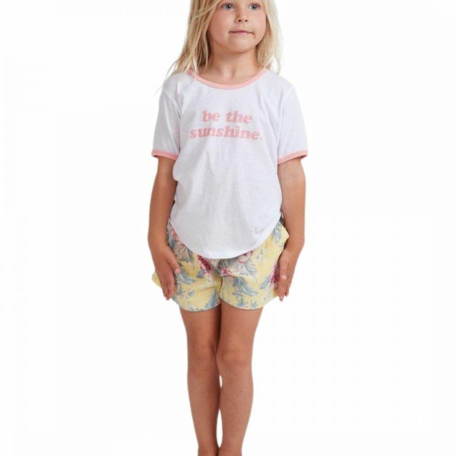 Island Dream Shor Girls Walkshorts Colour is Yellow