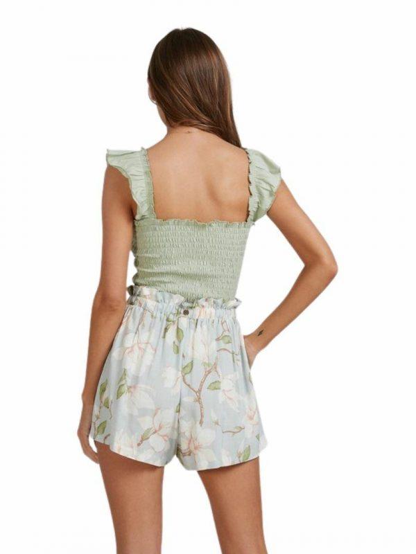 Moonflower Short Womens Walkshorts Colour is Mint