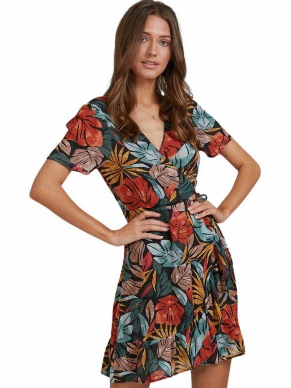 Sundaze Wrap Dres Womens Skirts And Dresses Colour is Black