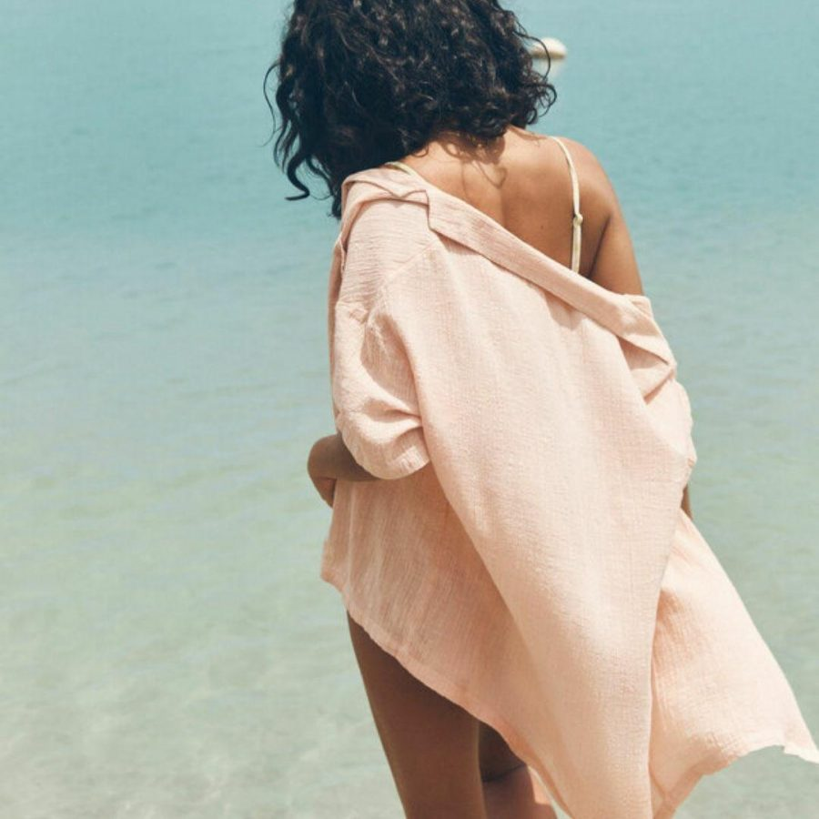 Beach Bound Shirt Womens Tops Colour is Soft Pink