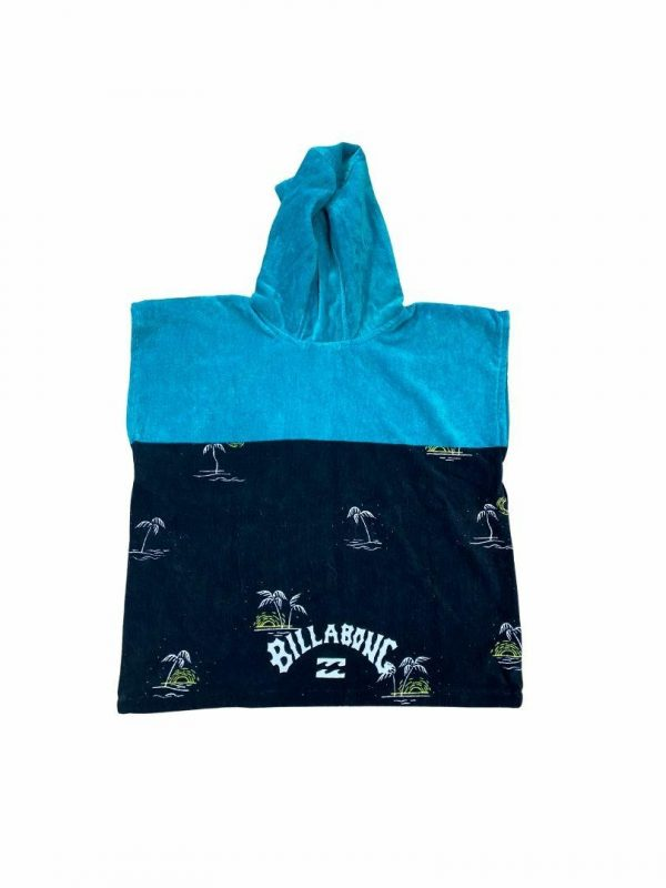 Groms Island Hooded Towel Kids Toddlers And Groms Beach Accessories Colour is Black