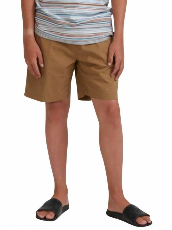 Layback Solid Boys Walkshorts Colour is Clay