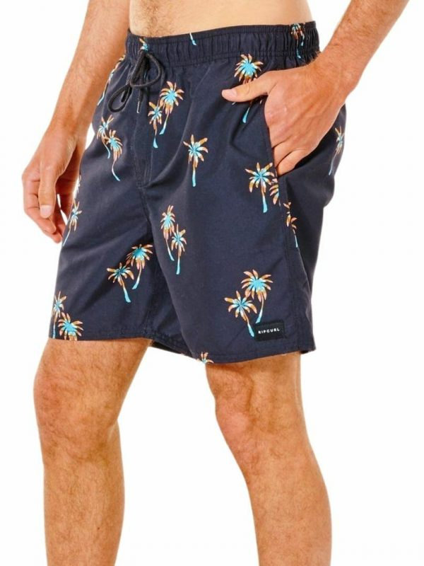 Sunset Party Volley Mens Boardshorts Colour is Black